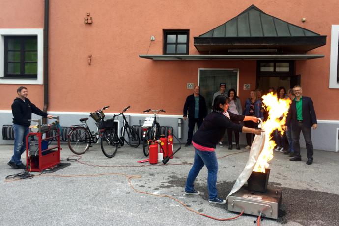 Brandfallübung für Gemeindemitarbeiter