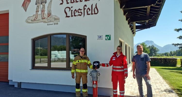 Neuer Defibrillator-Standort