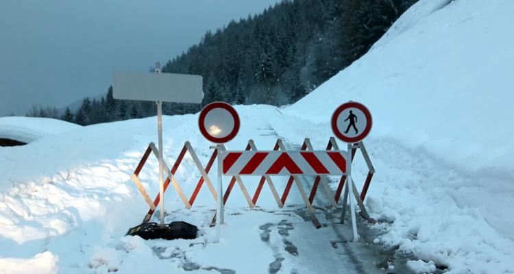 Thierbachweg - Sperre aufgehoben
