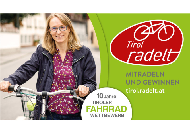 Tiroler Fahrradwettbewerb - jetzt noch anmelden