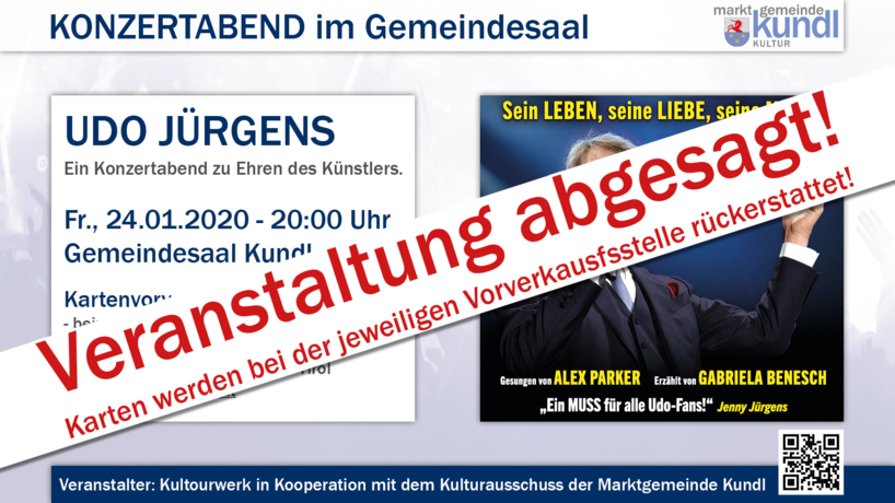 Udo Jürgens Show ABGESAGT