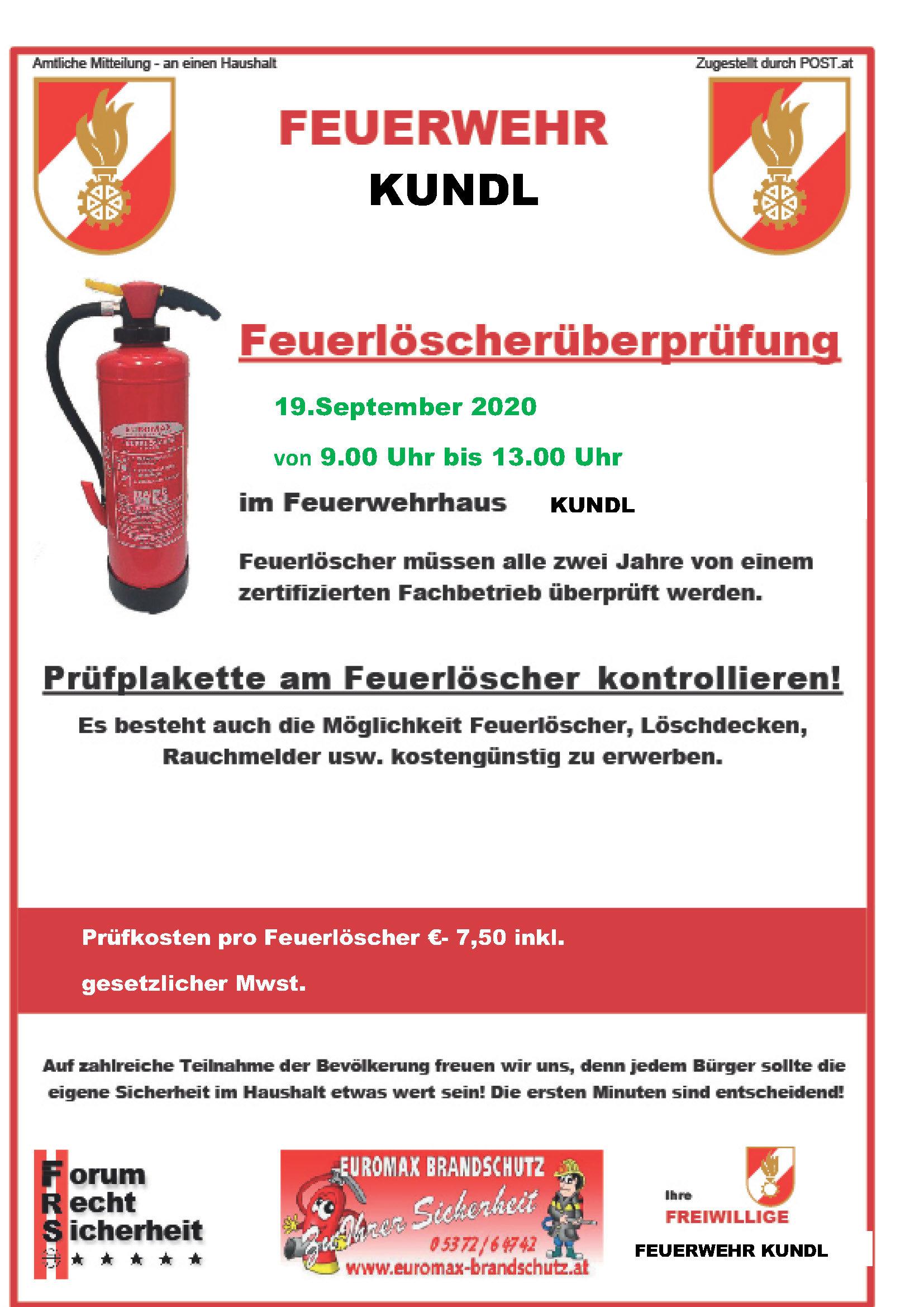 Ausschreibung-Feuerlöscherprüfung-Kundl