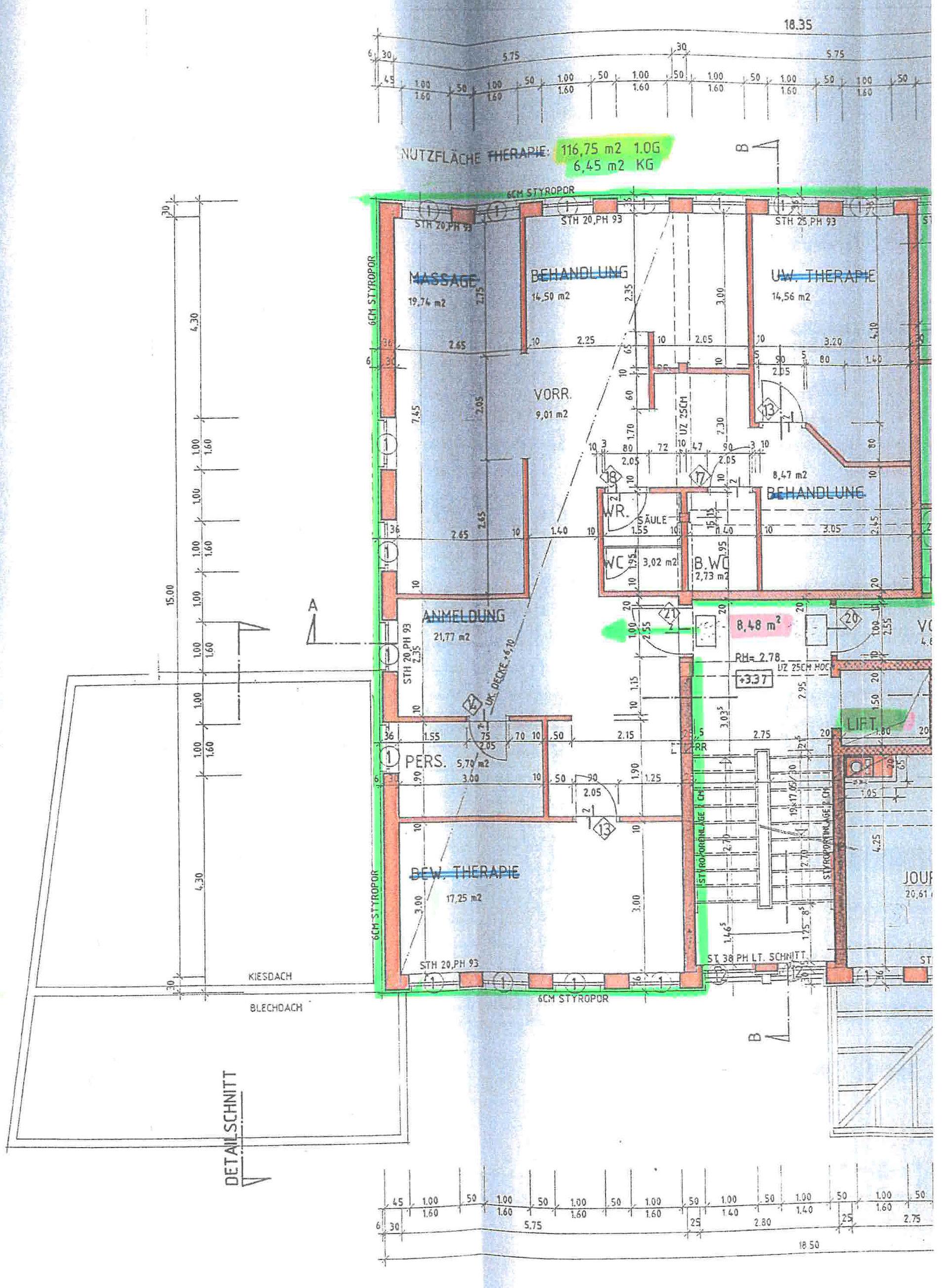 Grundriss_Plan_Büroräumlichkeiten_Mehrzweckgebäude