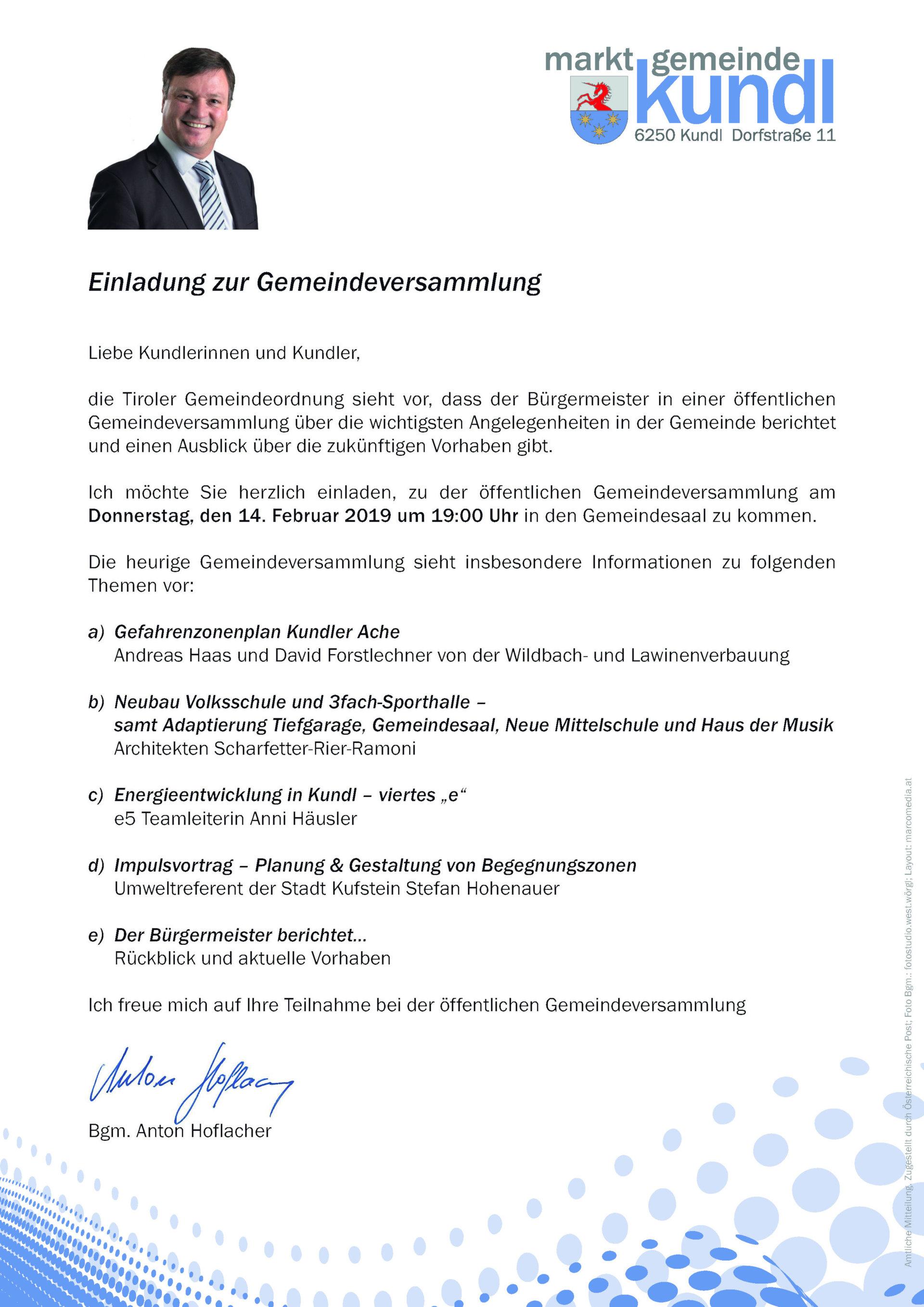 Öffentliche Gemeindeversammlung_Einladung und Tagesordnung