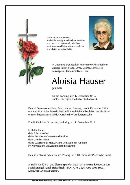 Aloisia Hauser