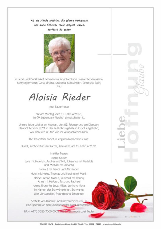 Aloisia Rieder