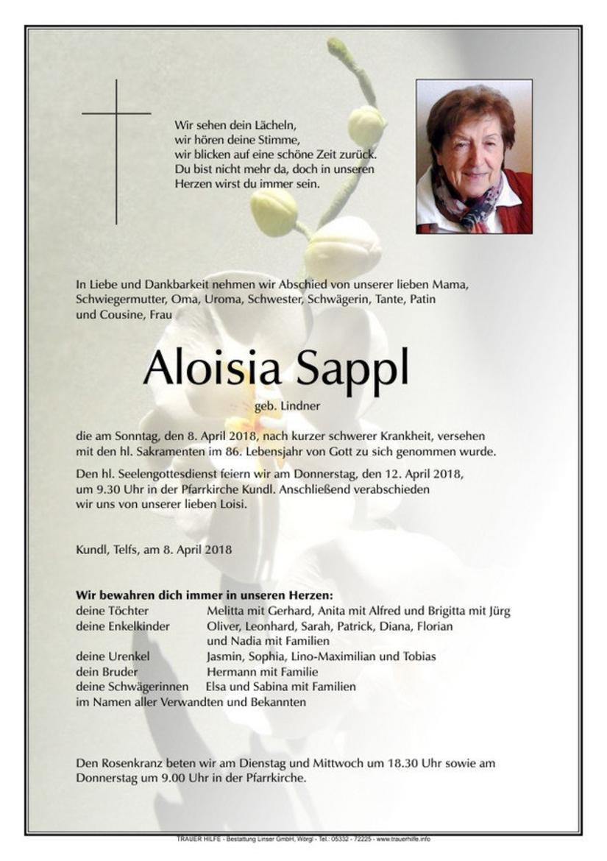 Aloisia Sappl