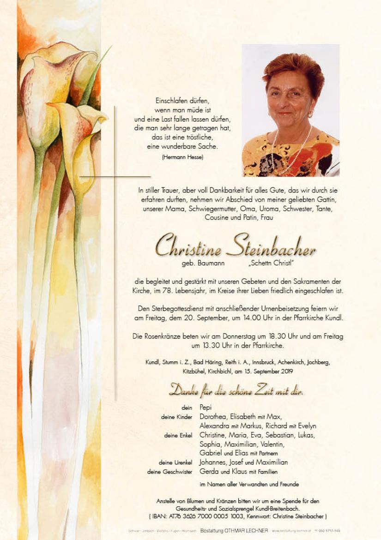 Christine Steinbacher