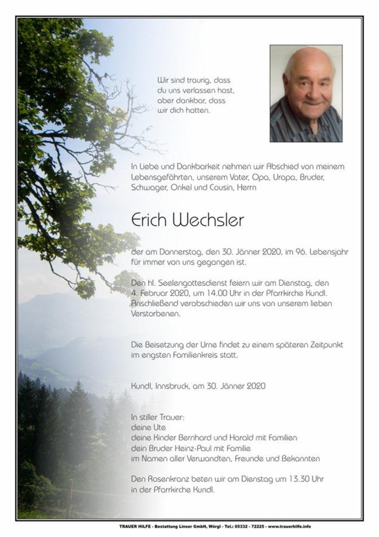 Erich Wechsler