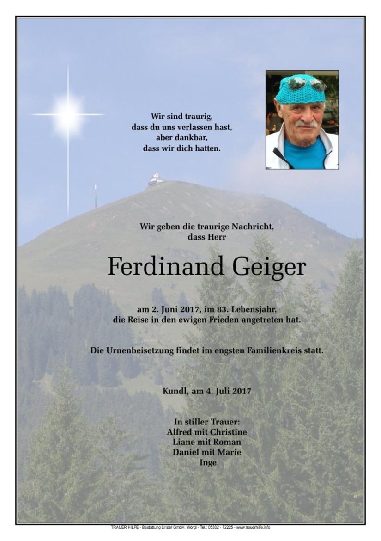 Ferdinand Geiger