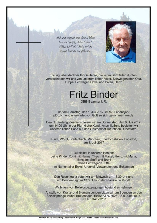 Fritz Binder
