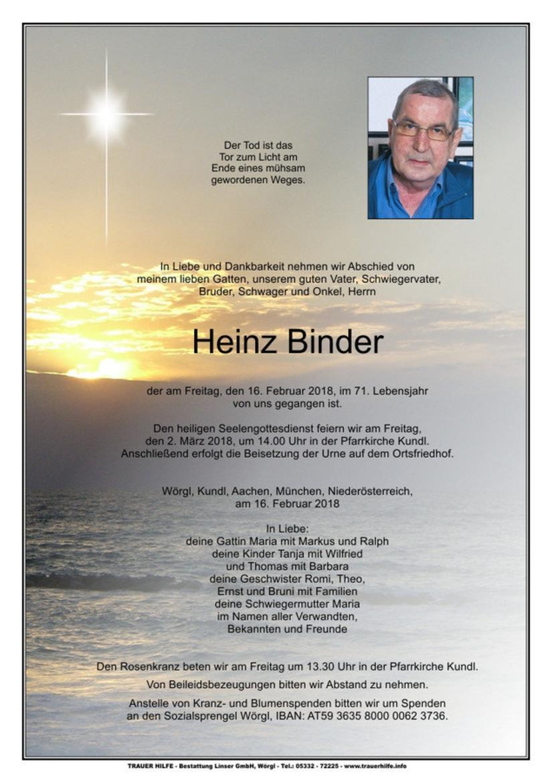 Heinz Binder