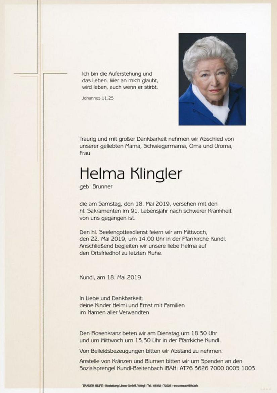 Helma Klingler