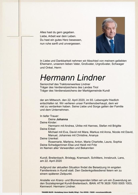 Hermann Lindner