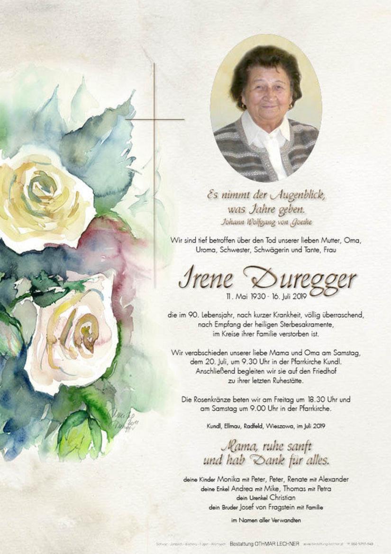 Irene Duregger