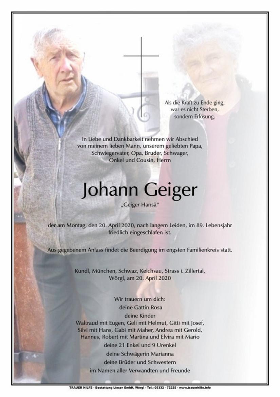 Johann Geiger