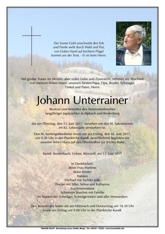 Johann Unterrainer