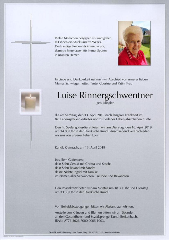 Luise Rinnergschwentner