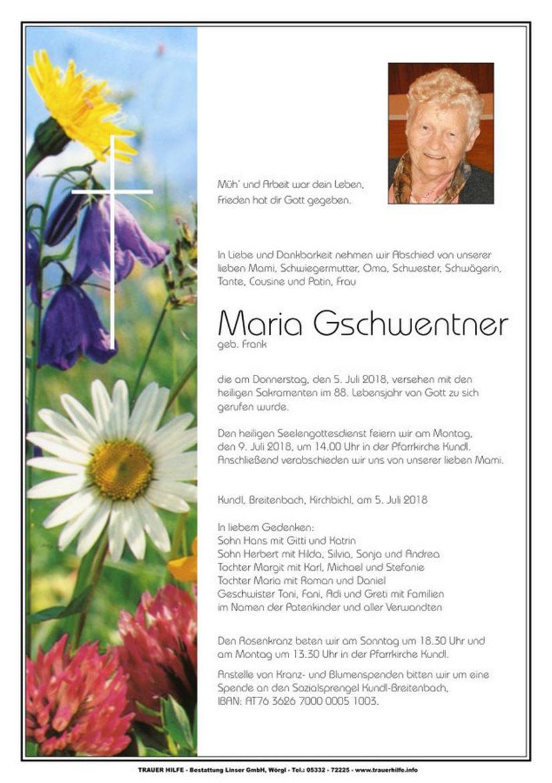 Maria Gschwentner