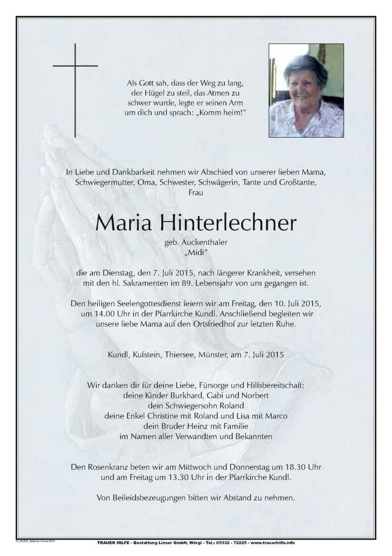 Maria Hinterlechner