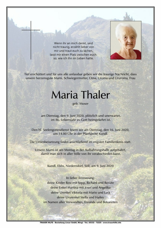 Maria Thaler