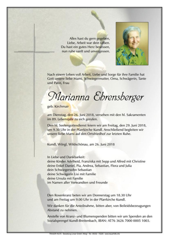 Marianna Ehrensberger