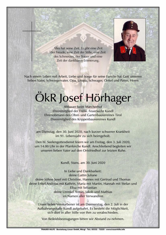 ÖkR Josef Hörhager