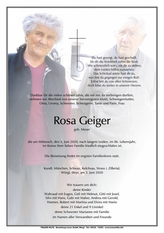 Rosa Geiger
