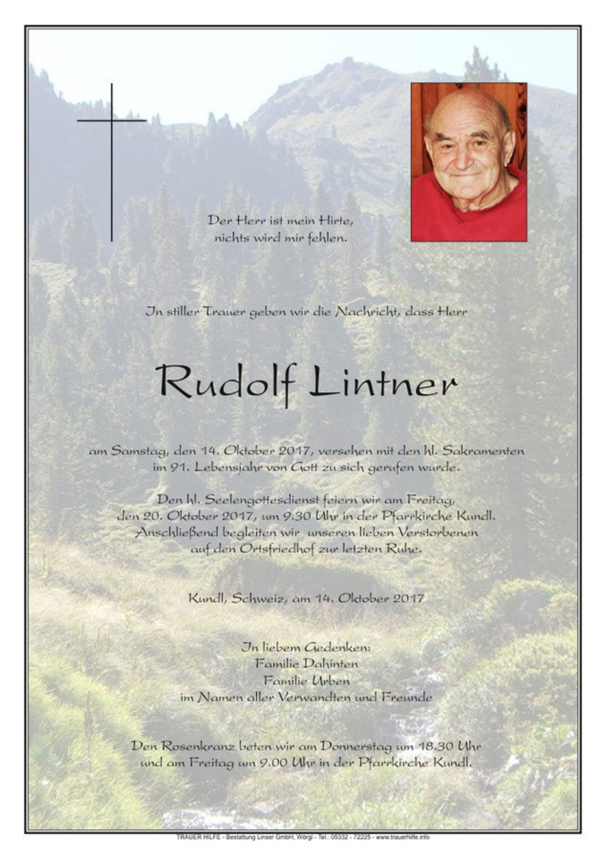 Rudolf Lintner