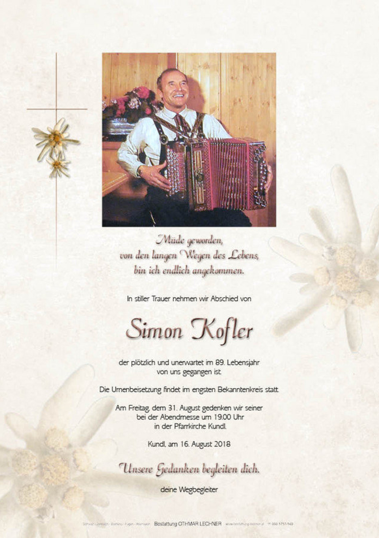 Simon Kofler